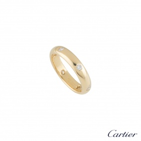 Cartier Yellow Gold Diamond Wedding Band